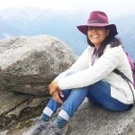 Mar Yvette at Moro Rock in Sequoia Naitonal Park