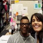 Blackish wardrobe stylist Stanley Hudson with reporter Mar Yvette