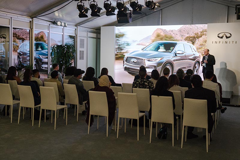 Infiniti QX50 Global Media Drive presentation