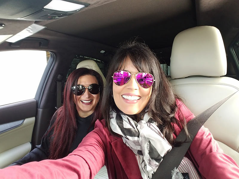 Mar Yvette & Claire Saade in the 2019 Infiniti QX50