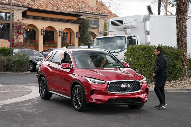 Mar Yvette driving the 2019 Infiniti QX50