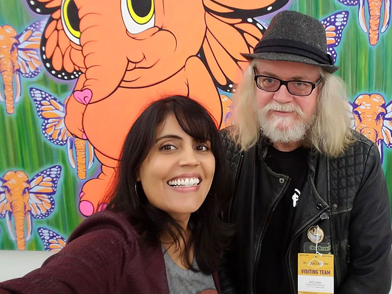 Ron English and Mar Yvette at the Corey Helford Gallery for Playboy Magazine