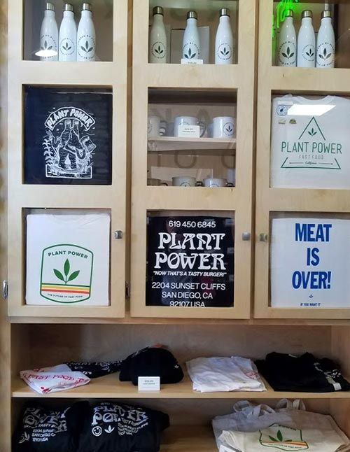 Plant Power Fast Food merchandise