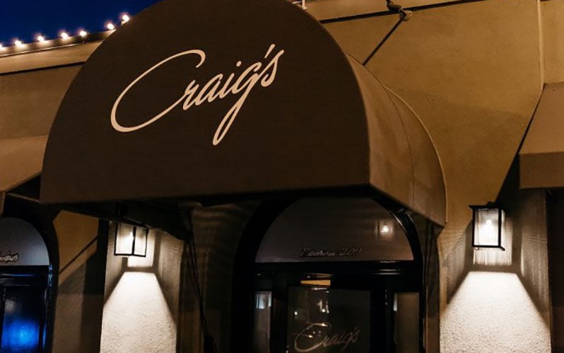 Where celebrities eat: Craig's in LA