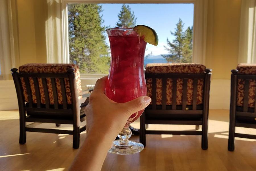 Huckleberry margarita Lake Lodge Yellowstone